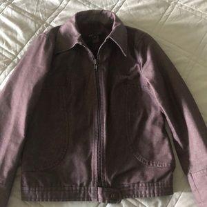 Marc Jacobs maroon jean jacket